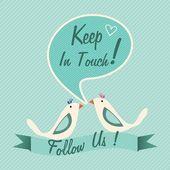 Beni takip et ve bizi takip et — Stok Vektör