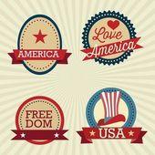 USA Icons — Stock Vector