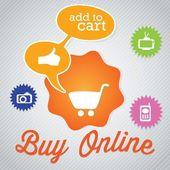 Buy Online — Stock Vector
