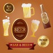 Beer Labels — Stock Vector