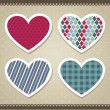 Scrapbook hearts — Stock Vector