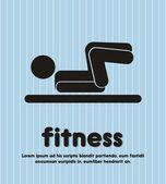 Fitness illustration — Stock Vector