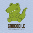 Baby crocodile — Stock vektor