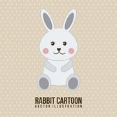 Cute rabbit — Stock Vector