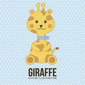 Baby giraffe — Stock Vector