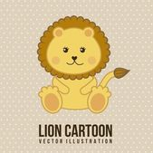 Baby lion — Stock Vector