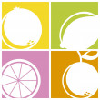 Stock Vector: Citrus icons