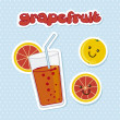 Grapefruit juice — Stockvectorbeeld
