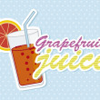 Grapefruit  juice — Stock Vector