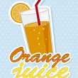 Orange juice — Stock Vector #20530659