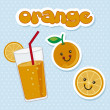 Orange juice — Vector de stock