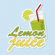 Lemon juice — Stockvectorbeeld
