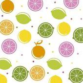 Citrus icons — Stock Vector