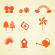 Spring Icons — Stock Vector