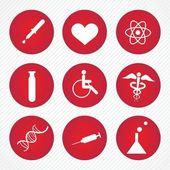 Nemocnice ikony — Stock vektor