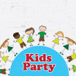 Stock Vector: Kids party
