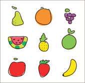 Fruits — Vettoriale Stock