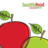Health Food — Stock Vector