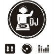 Dj icons — Stock Vector
