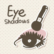 eyeshadows — Stock Vector