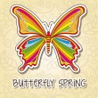 Spring butterfly - Stock Vector