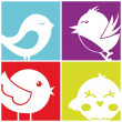 Birds icons — Stock Vector