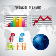 Financial planning — Image vectorielle
