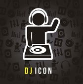 Dj icon — Stock Vector