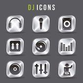 Dj icons — Stock Vector
