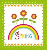 Spring label — Stock Vector