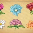Flowers Icons — Stock Vector #21543011