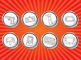 Icone dei giochi — Vettoriale Stock