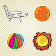 Summer, Sun Icons — Stock Vector