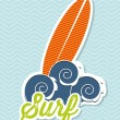 Surfboard icon — Stock Vector