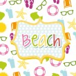 Beach icons — Stock Vector #21671433