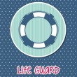 Stock Vector: Life guard