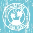 Vacations seal — Vektorgrafik