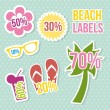 Beach icons — Stock Vector #21671535
