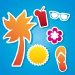 Beach icons — Stock Vector #21671541