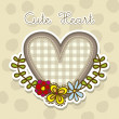 Cute heart - Stock Vector