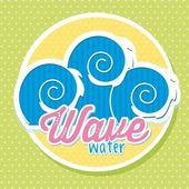 Wave water — Stock Vector