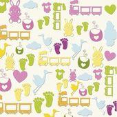 Baby pattern — Stock Vector