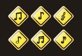 Ikony muzyki — Wektor stockowy