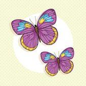 Icone farfalla — Vettoriale Stock