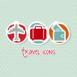 Travel icons — Stockvectorbeeld