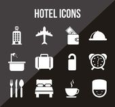 Hotel icons — Stock Vector