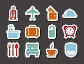 ícones do hotel — Vetor de Stock