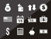 Tax icons — Stock Vector