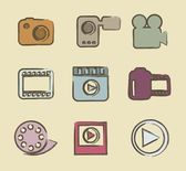Video icons — Stock Vector