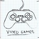 Video Games — Cтоковый вектор